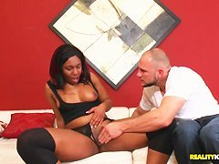 Black harpie Bailey Brooke hunts down Jmac's penis