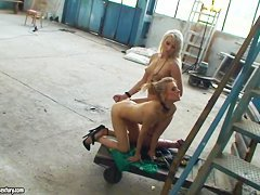 Michelle Moist and Viktoriah in hot femdom scene