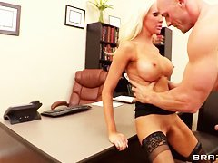 Naughty teacher Holly Price needs a hard fuck!