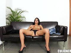 Honey Demon - cute brunette solo masturbation