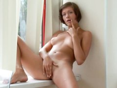 Young beauty masturbating