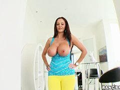 Luxurious milf Ava Addams shows her great body