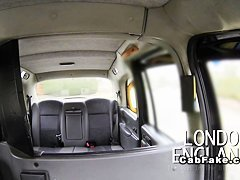 Huge tits British blonde anal banged in fake taxi reality european
