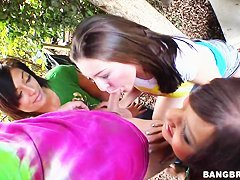 Down on the farm with porn stars  Audrianna Angel,Catalina Taylor and Gracie Glam.