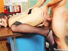 Young teacher Johnny Castle and his young student chick Rilynn Rae Are naughtily fucking in the classroom.